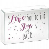 LED Love You To The Stars & Back Plaque